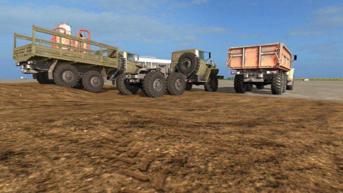 Мод Пак Урал грузовиков плюс прицепы v 1.1 для Farming Simulator 2017