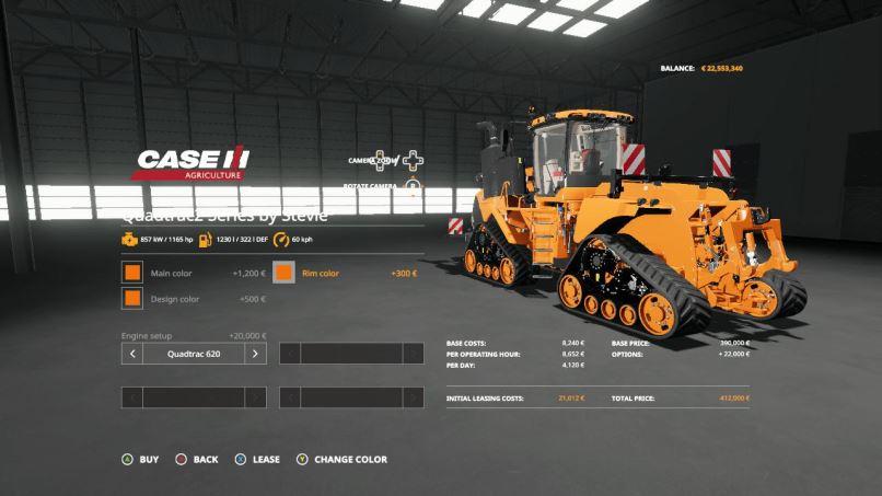 Мод Case Quadtrac 2 Tractor v 1.0 для Farming Simulator 2019
