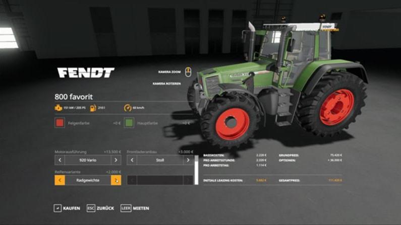 Мод Fendt 800 Favorit v 1.0 для Farming Simulator 2019