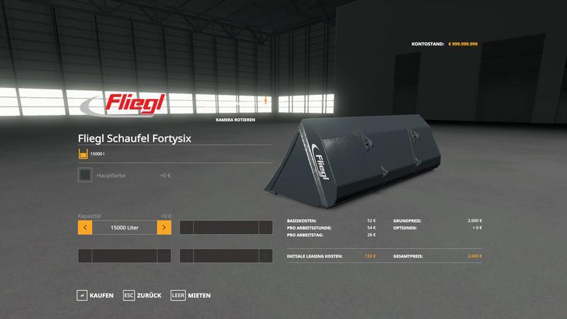 Мод Fliegl Schaufel v 1.0.0.3 для Farming Simulator 2019