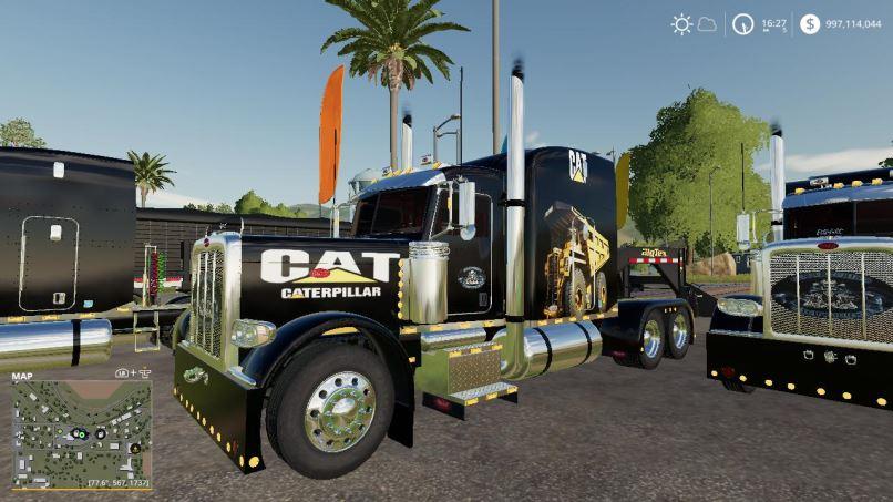 Мод CSM Trucking Peterbilt 388 Package v 2.0 для Farming Simulator 2019