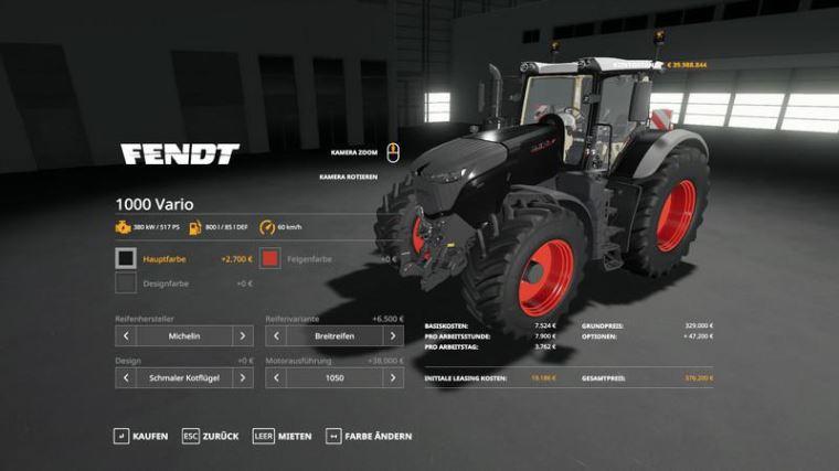 Мод Fendt 1000 Vario v 1.0.0.2 для Farming Simulator 2019