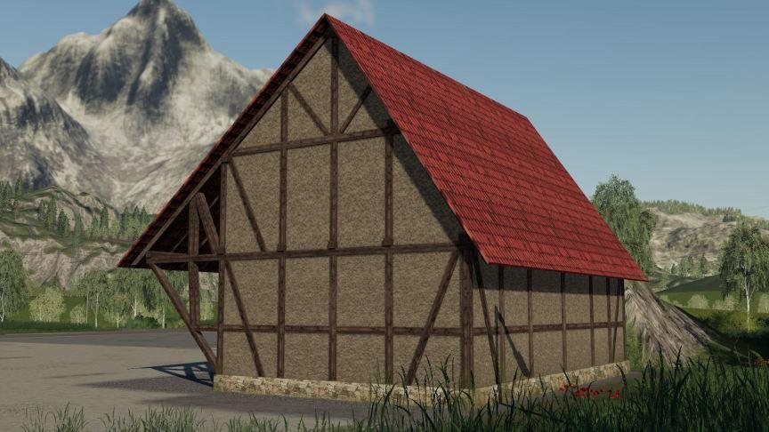 Мод Timberframe Barn With Attic v 1.0.0.1 для Farming Simulator 2019