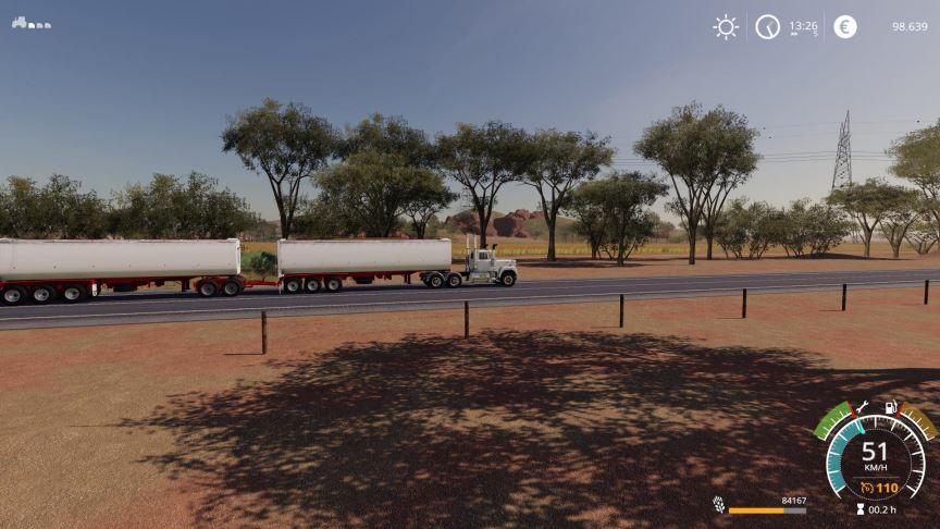 Мод RWT Aussie dump trailer v 1.0 для Farming Simulator 2019