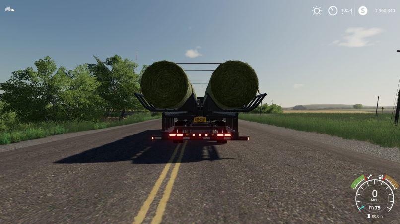 Мод Prairie Bale Trailer v 1.0 для Farming Simulator 2019