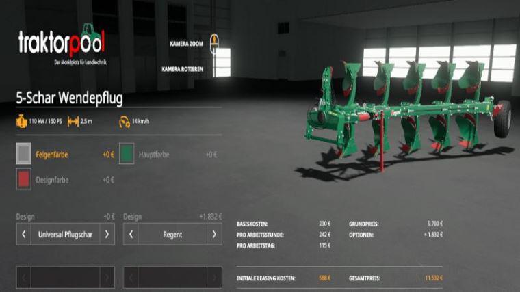 Мод 5-pack turning plow pack v 2.0 для Farming Simulator 2019