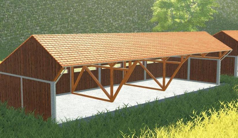 Мод Large wooden building v 1.0 для Farming Simulator 2019