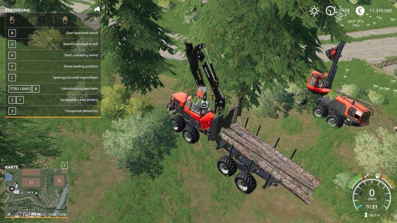 Мод Komatsu 875 Autoload v 2.1.0 для Farming Simulator 2019