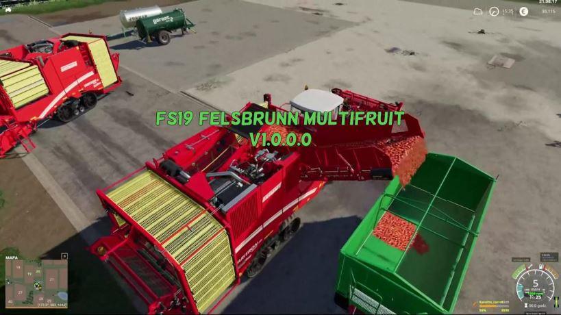 Мод Карта Felsbrunn Multifruit FINAL v 1.0.0.2 для Farming Simulator 2019