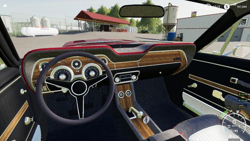 Мод 1968 Shelby Mustang V8 Flathead v 2.2 для Farming Simulator 2019