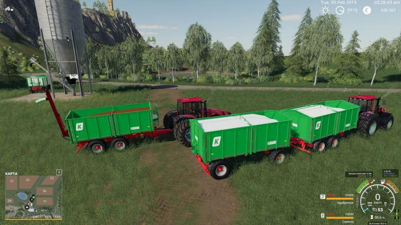 Мод Прицепы для заправки сеялок и удобрялок v 1.6 для Farming Simulator 2019
