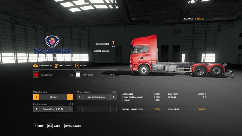 Мод Scania R730 Hooklift v 1.0 для Farming Simulator 2019