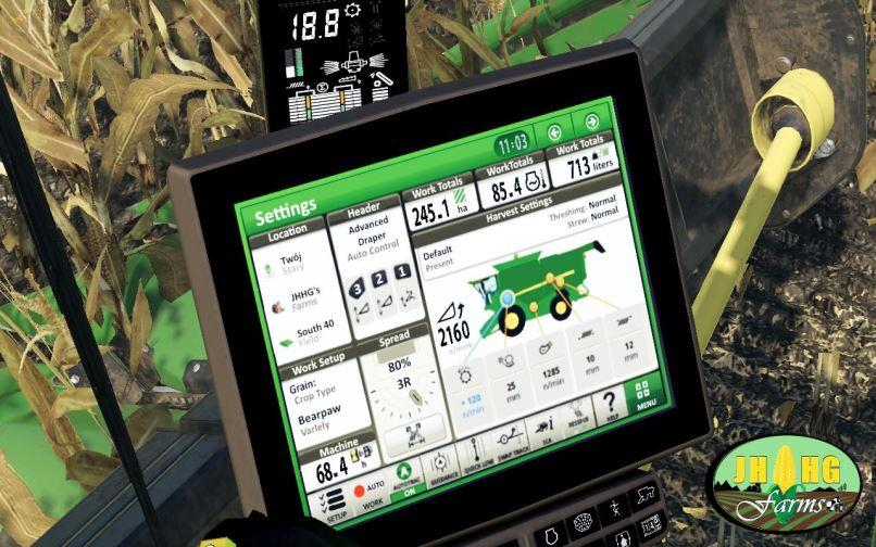 Мод John Deere S700 Series USA v 2.0 для Farming Simulator 2019