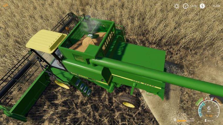 Мод John Deere 8820 Turbo v 1.0 для Farming Simulator 2019