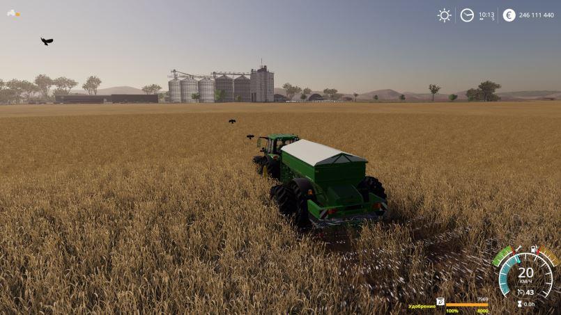 Мод Donder Ferilized Spreader Wagon 8000L v 1.0 для Farming Simulator 2019