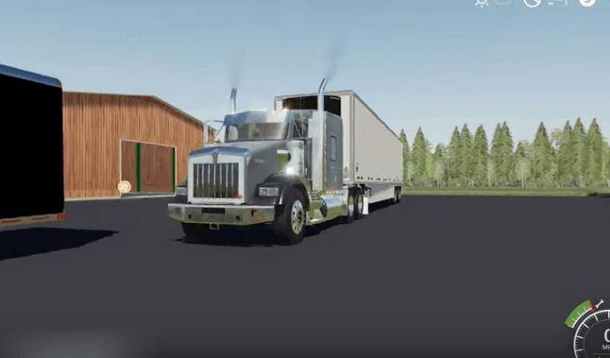 Мод 2015 Kenworth T800 v 1.0 для Farming Simulator 2019