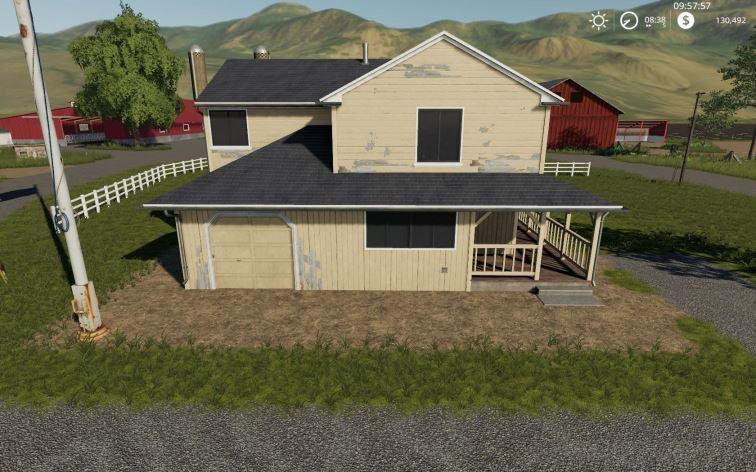 Мод Placeable 4 bedroom house with sleep trigger v 1.0 для Farming Simulator 2019