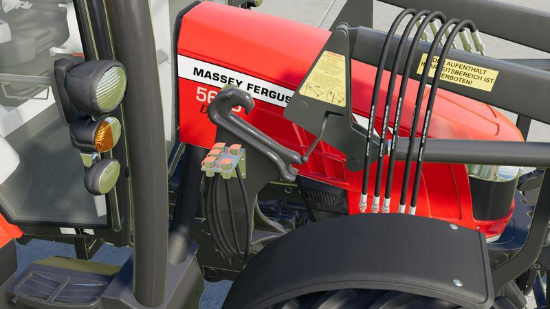 Мод Frontloader Hose Connectors v 1.0 для Farming Simulator 2019