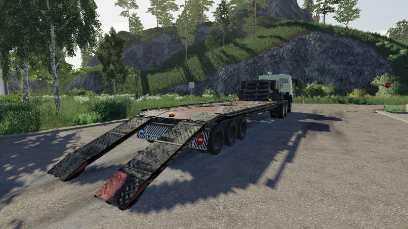 Мод Трал для перевозки техники v 1.0 для Farming Simulator 2019
