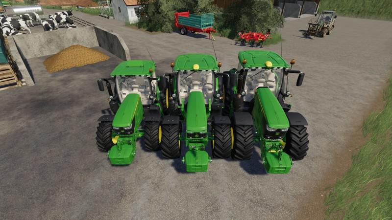 Мод John Deere 6125 v 1.2 для Farming Simulator 2019