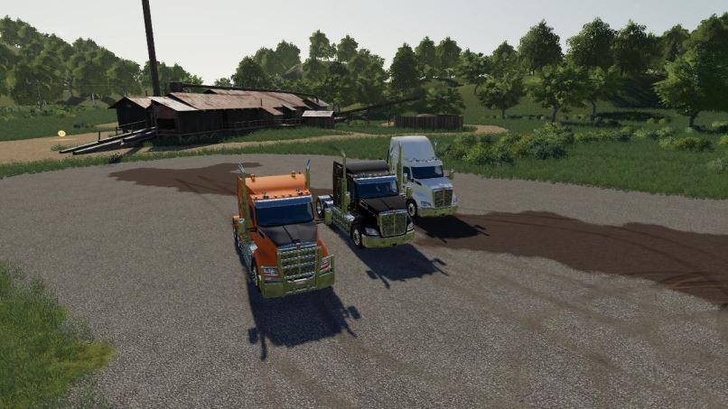 Мод Kenworth T610 v 1.0 для Farming Simulator 2019