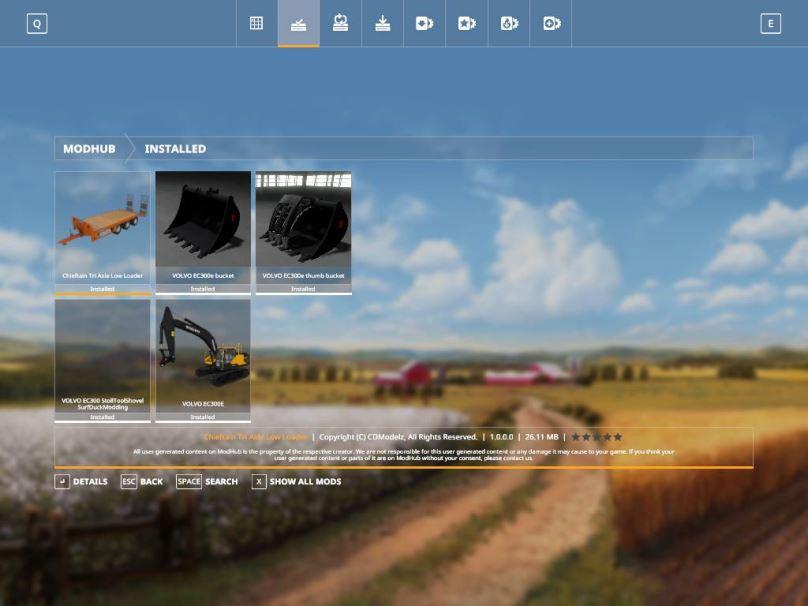 Мод Volvo excavator pack v 1.0 для Farming Simulator 2019