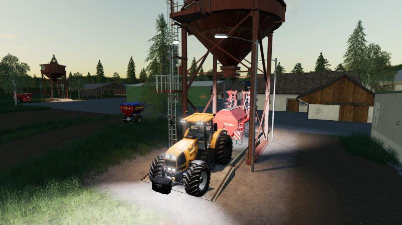 Мод Placeable Storage Silos v 1.1 для Farming Simulator 2019