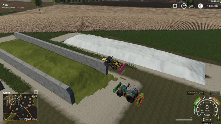 Мод FreilandSilo Plazierbar v 1.5 для Farming Simulator 2019