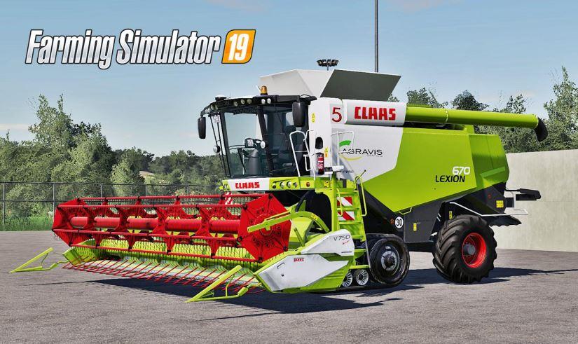 Мод Пак Claas Lexion 670 Pack v 1.0 для Farming Simulator 2019
