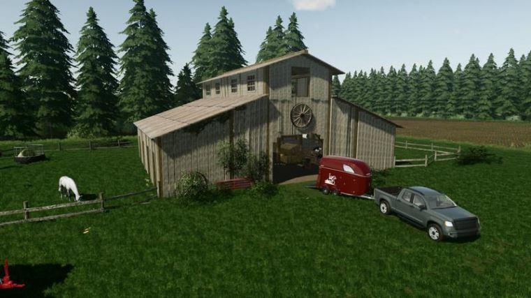 Мод Horse Barn v 1.1 для Farming Simulator 2019