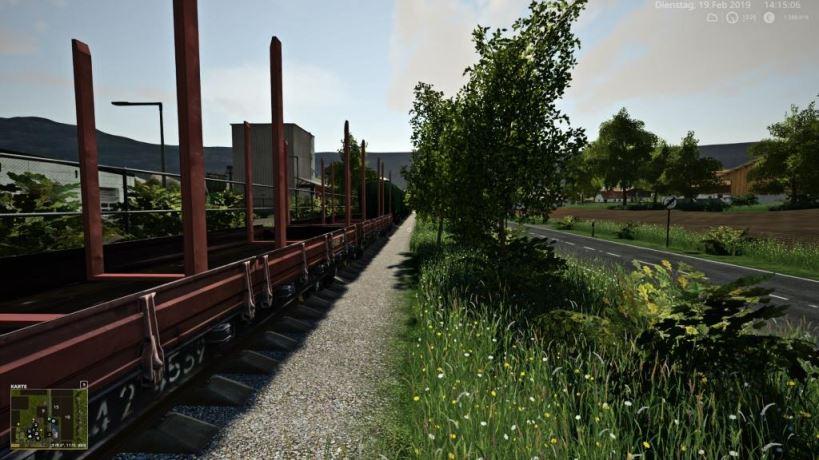 Мод Muhlenkreis Mittelland train v 1.0 для Farming Simulator 2019