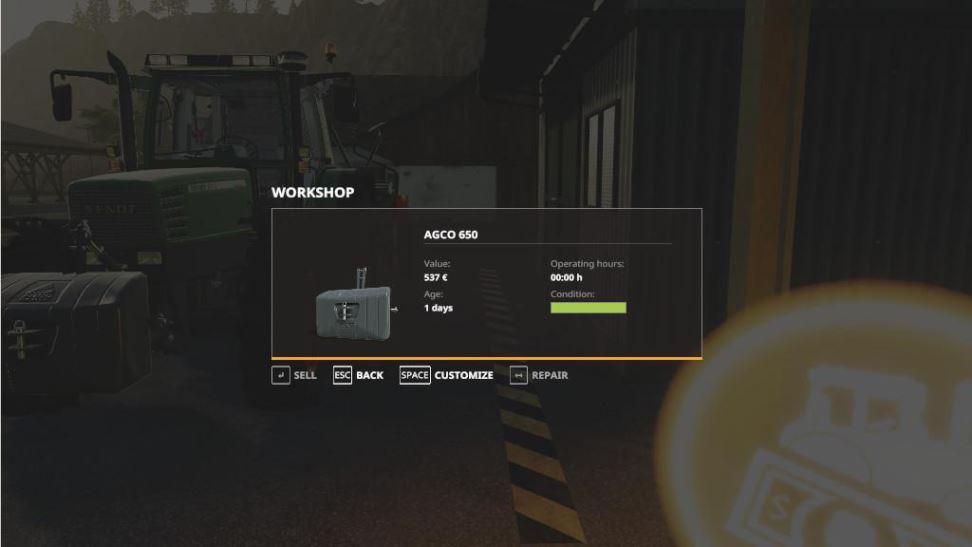 Мод WorkShop Tabber v 1.0 для Farming Simulator 2019