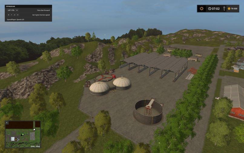 Мод Карта Еленовка для Farming Simulator 2017