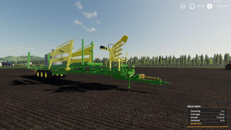 Мод John Deere Bale Grab v 2.0 для Farming Simulator 2019
