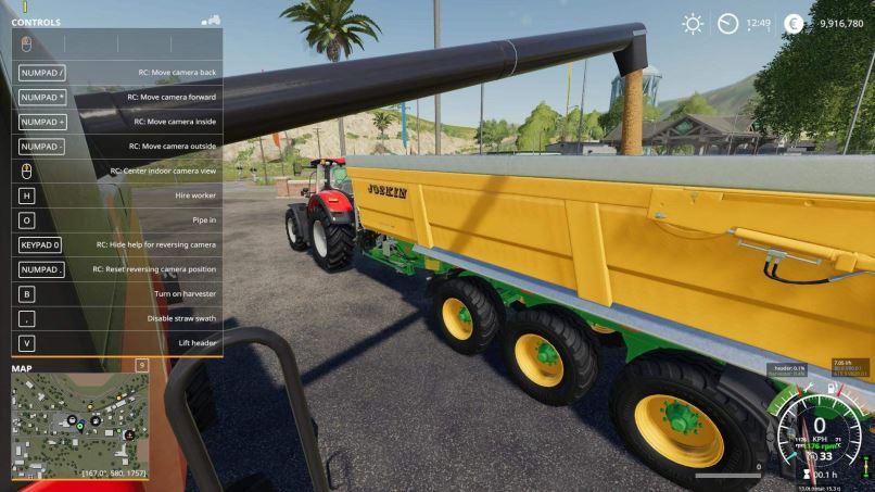 Мод Скрипт Reversing Indoor Camera v 1.3 для Farming Simulator 2019