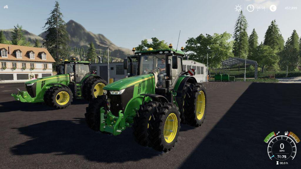 Мод John Deere 7R + 8R v 1.0 для Farming Simulator 2019