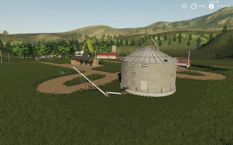 Мод Placeable single grain silo v 1.0 для Farming Simulator 2019