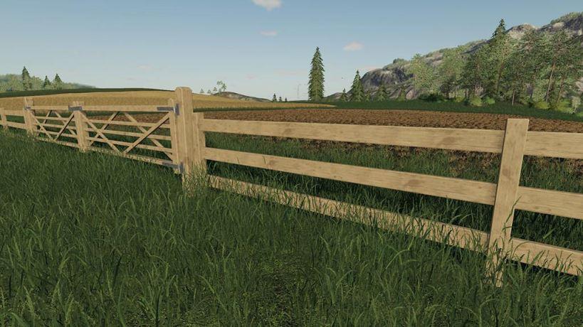 Мод Wooden Gates Fences And Stone Walls v 1.0 для Farming Simulator 2019