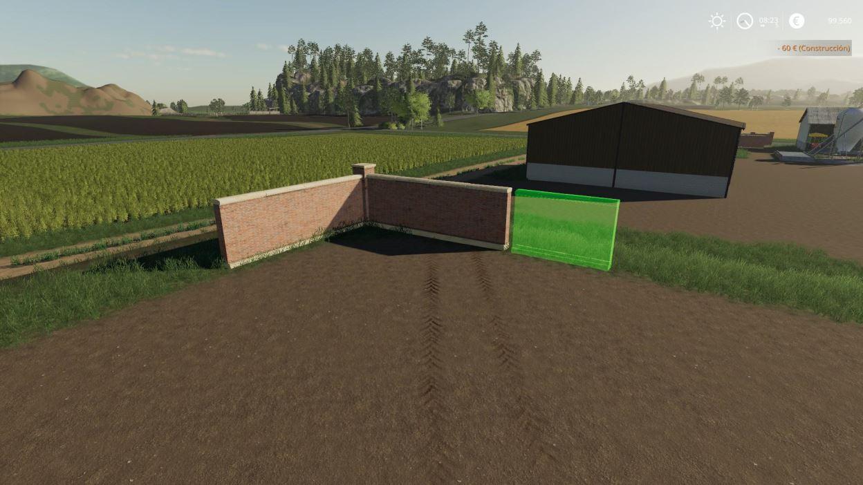 Мод StoneWalls Placeable v 1.0 для Farming Simulator 2019