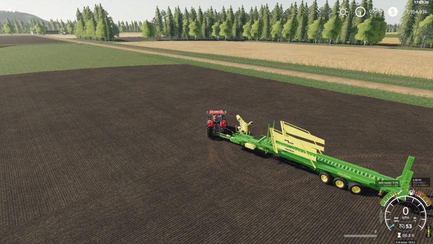 Мод John Deere 32 bale Autostacker v 2.0 для Farming Simulator 2019