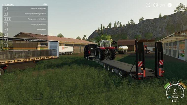 Мод Fliegl Tieflader v 1.0 для Farming Simulator 2019