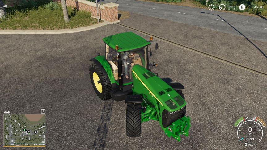 Мод John Deere 8130 - 8530 v 1.1 для Farming Simulator 2019