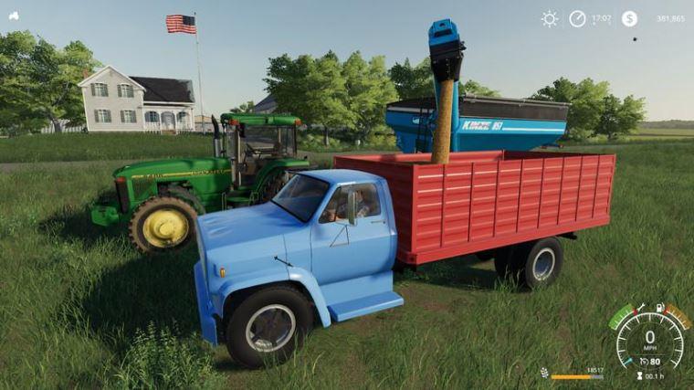 Мод 1977 Chevrolet C70 Grain Truck v 1.0 для Farming Simulator 2019