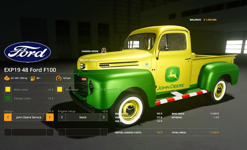 Мод 1948 Ford F100 service truck v 1.0 для Farming Simulator 2019