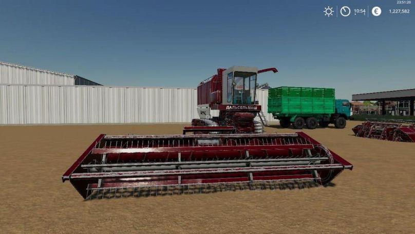 Мод Амур-680 с жатками v 1.0.0.2 для Farming Simulator 2019